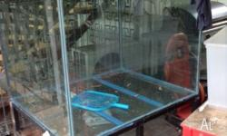 Large glass fish/reptile tank. 12mm glass on steel