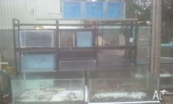Various sized aquariums. Many available. Aquariums have