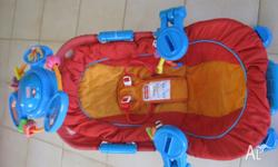 The Fisher-Price Sensory Selections Bouncer was given