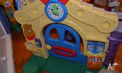In great cond. The fisher price door has included