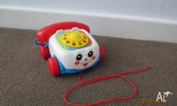 As pictured. Fisher Price telephone in excellent,