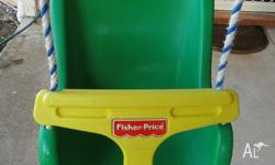 FISHER PRICE TODDLER SWING. The swing can be erected