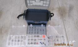 LARGE TACKLE BOX WITH 35 x GOOD LURES PLUS HEAPS OF