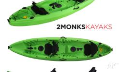 NEW! Fishing Kayak 2.5 Double Sit On 3.7M include 4 Rod