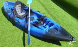 Great little fishing kayak plus lightweight paddle plus