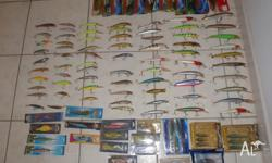 tackle box clean out, 70+ hard bodies and a varity of