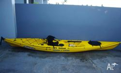 Great fishing kayak with paddle. Very good condition