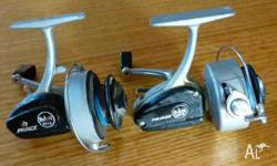 Two D.A.M. fishing reels. A Prince 12 and a Prince 13.