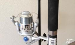 Like brand new fishing rod with gear (complete set).