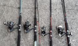 All Spooled and ready to fish,all in good working order