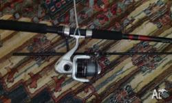Got one fishing rod with reel going for 15 and a power
