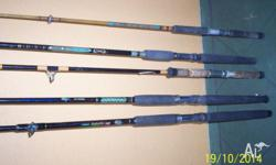 5 rods all with runners but no tips. Good brands,