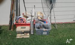 I have a heap of fishing gear for sale. It is quite old