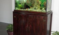 Fishtank, Cabinet, Hood. Light, Eheim Filter