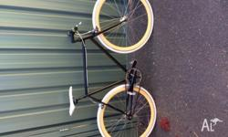 Fixie Normal adult size Rides well Wheels are a little