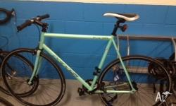Spearmint Green for speed! this KHS Flight 100 fixie is