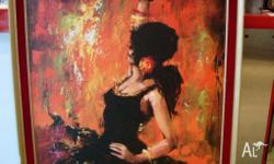 Flamenco Dancer Retro Vintage Art Print by Lee Burr