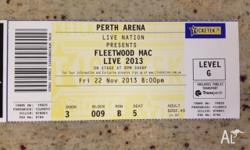 One premium Gold ticket to see Fleetwood Mac at Perth