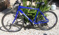 Fluid fittness bike,lightweight alloy frame, 21 speed.