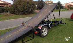 Here is my FMX ramp/trailer. All parts and materials