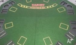 Fold up octagon poker table top. Excellent condition