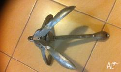 1.5 kilo galvanised folding anchor .. Will suit kayak