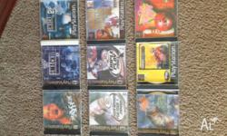 Various PlayStation1 games for sale. Most are burnt