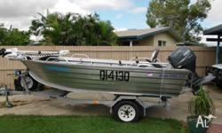 4.2m Blue Fin Boat and trailer are registered to the