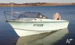 Up for sale is my 17 feet fiberglass boat it is in good