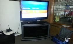 "LG 45"" LCD TV come with cabinet Negotiable"