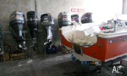 for sale used outboard range from 40hp to 150hp ,call