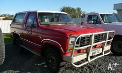 ford bronco 1982 red v8 dual fuel auto wrecking most