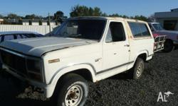 ford bronco 1985 white wrecking most parts available