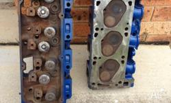 Ford 351 Cleveland LPG ready heads. Cleaned, painted