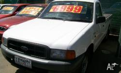 FORD,COURIER,1999, RWD, White, Grey trim, C/CHAS,