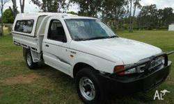 FORD,COURIER,PE,2002, 4WD, WHITE, C/CHAS, 2499cc, 86kW,