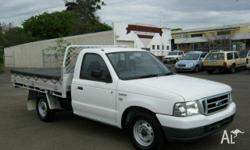 FORD, COURIER, PH, 2006, RWD, White, C/CHAS, 2499cc,