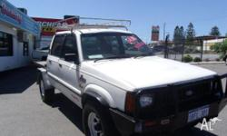 FORD,COURIER,1996, 4WD, WHITE, GREY trim, CREW CAB