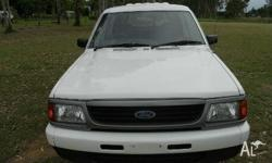 FORD,COURIER,PD,1997, Rear Wheel Drive, WHITE, UTILITY,