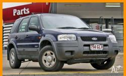 FORD, ESCAPE, BA, 2001, 4WD, BLUE, 4D WAGON, 2967cc,