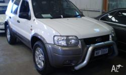 FORD, ESCAPE, ZB, 2005, 4WD, WHITE, 4D WAGON, 2967cc,