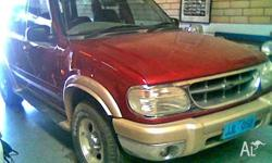 FORD, EXPLORER, 2000, 4D WAGON, 4, 6cyl, 5 SP AUTOMATIC
