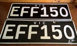 Victorian personalised combination plates to suit Ford