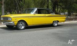 1963 Ford Fairlane sports coupe, 2 door pillar-less