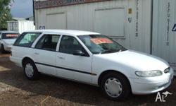 FORD,FALCON,EL,1997, RWD, White, Gray trim, 4D WAGON,