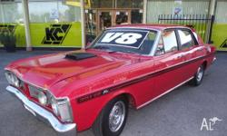 FORD,FALCON,XY,1971, RWD, RED, BLACK trim, 4D SEDAN,