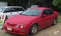 FORD,FALCON,AUII,2001, RWD, red, 4D SEDAN, 3984cc,