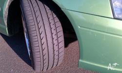 "2004 Ford falcon ba xr6 Envy Green colour 18"" deep dish"
