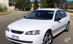 FORD,FALCON,BA,2002, RWD, WHITE, 4D SEDAN, 3984cc,