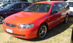 FORD, FALCON, BA MKII, 2005, RWD, red, 4D WAGON,